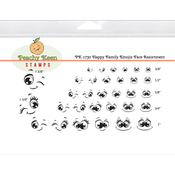 Happy Family Emojis - Peachy Keen Stamps Clear Face Assortment 32/Pkg