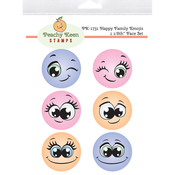 Happy Family Emojis - Peachy Keen Stamps Clear Face Set 6/Pkg