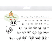 Beginner Happy Family Emojis - Peachy Keen Stamps Clear Face Assortment 32/Pkg