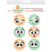 Beginner Happy Family Emojis - Peachy Keen Stamps Clear Face Set 6/Pkg