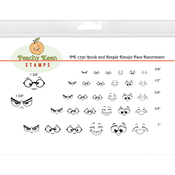 Quick & Simple Emojis - Peachy Keen Stamps Clear Face Assortment 32/Pkg