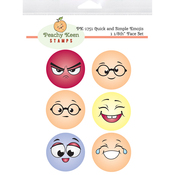 Quick & Simple Emojis - Peachy Keen Stamps Clear Face Set 6/Pkg