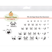 Zippy Emojis - Peachy Keen Stamps Clear Face Assortment 32/Pkg