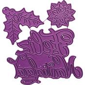 """Feliz Navidad, 1.125"""" To 3.125"""" - Cheery Lynn Designs Die"""