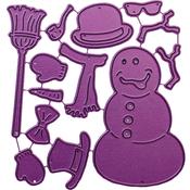 """Build-A-Snowman, .625"""" To 2.75"""" - Cheery Lynn Designs Die"""