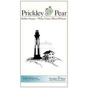 "Lighthouse With House - Prickley Pear Cling Stamps 3""X3"""