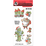 """Southwest Christmas - Art Impressions Christmas Cling Rubber Stamp Set 8""""X4"""""""