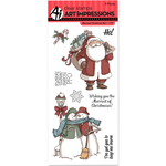 "Merriest Christmas - Art Impressions Christmas Cling Rubber Stamp Set 8""X4"""