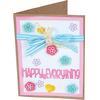 Card Front W/Block Words Drop-Ins - Sizzix Framelits Dies By Stephanie Barnard 13/Pkg