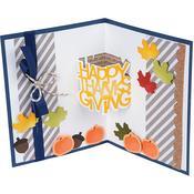 Happy Thanksgiving 3-D Drop-ins - Sizzix Thinlits Dies By Stephanie Barnard 6/Pkg