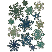 Mini Paper Snowflakes - Sizzix Thinlits Dies 14/Pkg By Tim Holtz