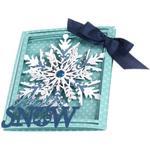 Snowflake Tri-Fold Card - Sizzix Thinlits Dies 8/Pkg By Lindsey Serata