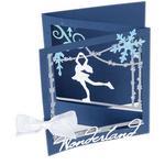 Ice Skater Tri-Fold Card - Sizzix Thinlits Dies By Lindsey Serata