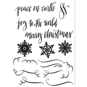 Seasonal Calligraphy - Sizzix Clear Stamps
