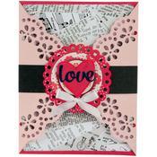 Lace Gatefold Card - Sizzix Thinlits Dies 11/Pkg By Lori Whitlock