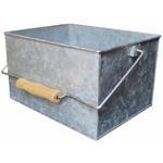 """Galvanized Rectangle Bucket W/Wood Handle 4.75""""X8""""X6.25"""""""