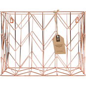 Copper - Wire Hanging File Basket