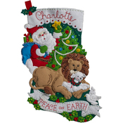 "18"" Long - Peace On Earth Stocking Felt Applique Kit"
