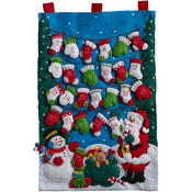 Mittens And Stockings Advent Calendar Felt Applique Kit