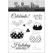 "Truffle Treats - Two Paper Divas Clear Stamps 6""X4.5"""