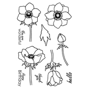 """Anemone - Jane's Doodles Clear Stamps 4""""X6"""""""