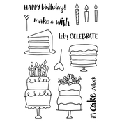 "Cake! - Jane's Doodles Clear Stamps 4""X6"""