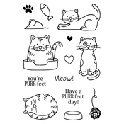"Cats - Jane's Doodles Clear Stamps 4""X6"""