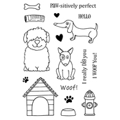 "Dogs - Jane's Doodles Clear Stamps 4""X6"""