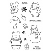 "Winter Wishes - Jane's Doodles Clear Stamps 4""X6"""