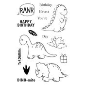 "DINOmite - Jane's Doodles Clear Stamps 4""X6"""