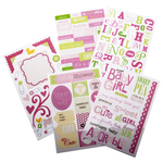 Sweet Baby Girl - Glitter Stickers Value Pack