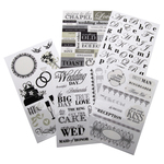 Black & White Wedding - Glitter Stickers Value Pack