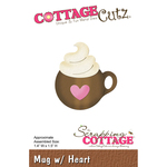 "Mug W/Heart, 1.4""X1.5"" - CottageCutz Die"