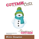 "Winter Snowman, 1.9""X2.8"" - CottageCutz Die"