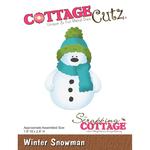 """Winter Snowman, 1.9""""X2.8"""" - CottageCutz Die"""