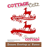 Seasons Greetings W/Banner - CottageCutz Die