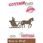 """Horse W/Sleigh, 3""""X1.3"""" - CottageCutz Elites Die"""
