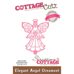 "Elegant Angel Ornament, 2.3""X3"" - CottageCutz Elites Die"