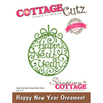 "Happy New Year Ornament, 2.4""X3"" - CottageCutz Elites Die"