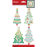 Bling Watercolor Christmas Tree - Jolee's Boutique Dimensional Stickers
