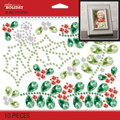 Bling Holly Mistletoe - Jolee's Boutique Dimensional Stickers