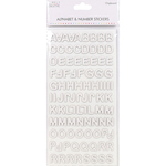 Modern Chipboard White - Simply Creative Alphabet & Number Stickers