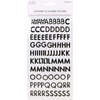 Skinny Chipboard Black - Simply Creative Alphabet & Number Stickers