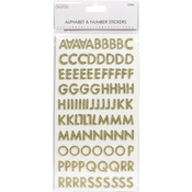 Skinny Glitter Gold - Simply Creative Alphabet & Number Stickers