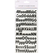 Classic Foam Black - Simply Creative Alphabet & Number Stickers
