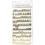 Classic Foil Gold - Simply Creative Alphabet & Number Stickers