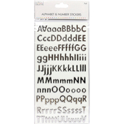 Classic Foil Silver - Simply Creative Alphabet & Number Stickers