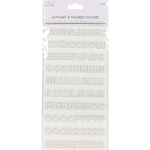 Block Foam White - Simply Creative Alphabet & Number Stickers