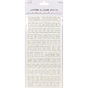 Traditional Glitter White - Simply Creative Alphabet & Number Stickers