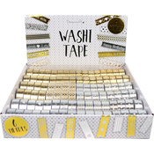 Gold & Silver, MSRP $2.99 Per Roll - Dovecraft Washi Tape 96/Box